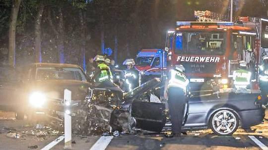 Unfall wegen zu hoher Geschwindigkeit