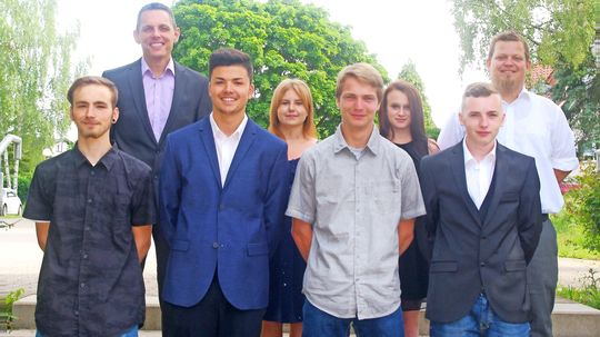 Die Absolventen der Erich-Kästner-Schule in Lebach.