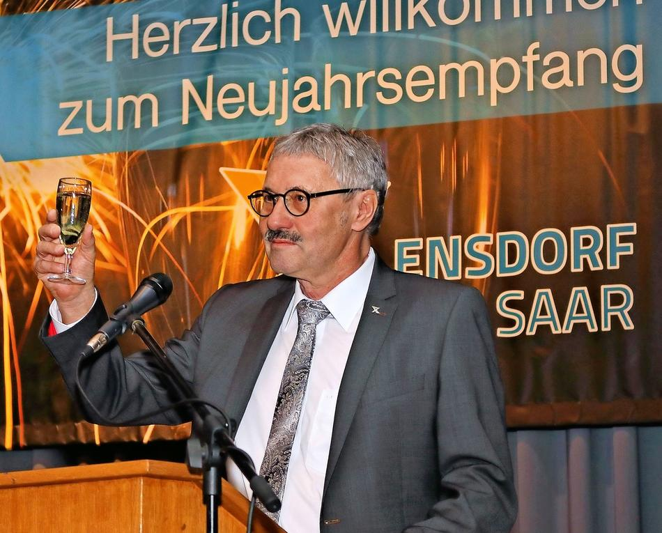 Neujahrsempfang in Ensdorf mit Bürgermeister Hartwin Faust