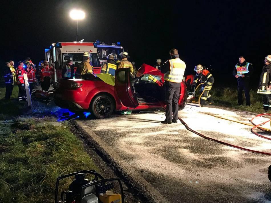 Horror-Crash im Saarland: Drei Tote bei Frontalzusammenstoß