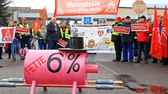 IG Metall startet Warnstreiks in Bayern