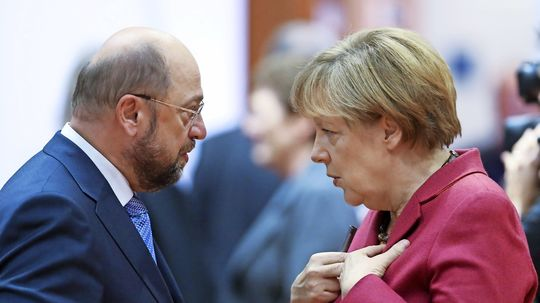 Sondierungs-Schlussphase: Merkel und Schulz optimistisch