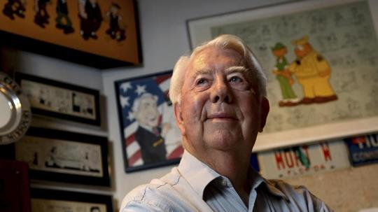 Mort Walker 2010 in seinem Studio in Stamford. Foto: Craig Ruttle/FR61802 AP