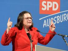 Andrea Nahles in Augsburg